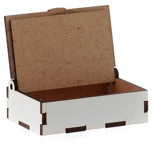 Portarosario de madera grabado láser Divina Misericordia 3