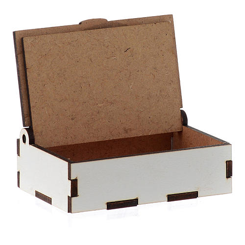 Boîte chapelet bois coupé laser Christ Miséricordieux 3