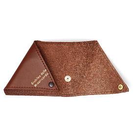 Portarosario triangolo pelle marrone Giubileo s3
