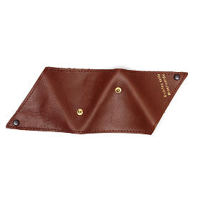 Portarosario triangolo pelle marrone Giubileo s5