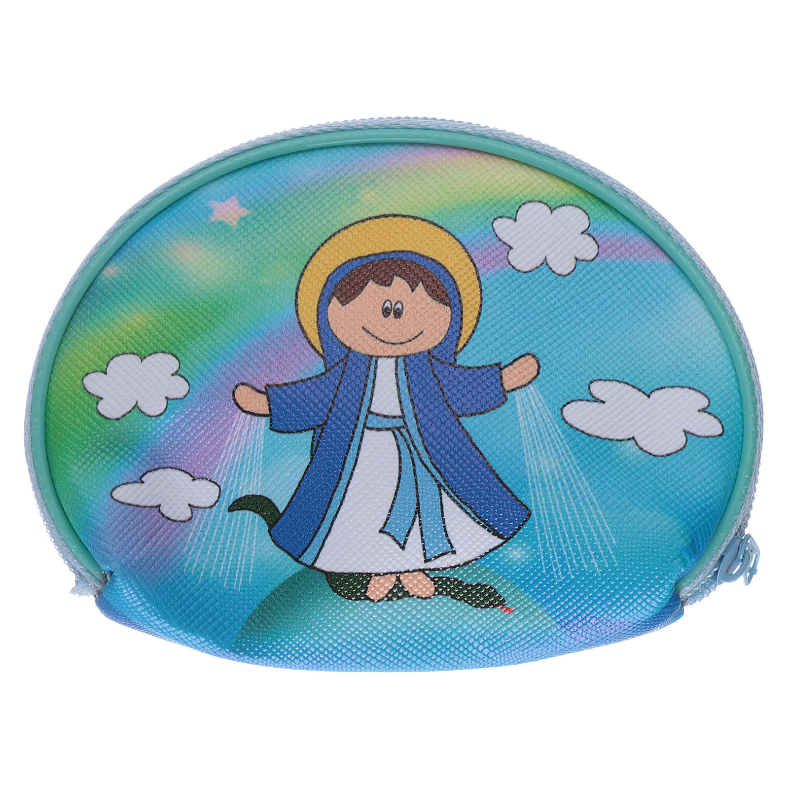 Purse rosary holder 10x8 cm with Our Lady of Miracles image 4
