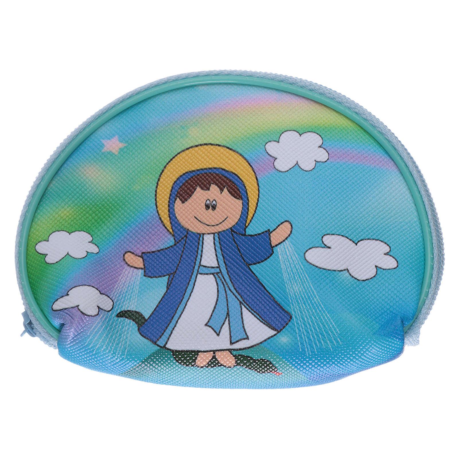 Portarosario borsellino 10x8 cm immagine Madonna Miracolosa 4