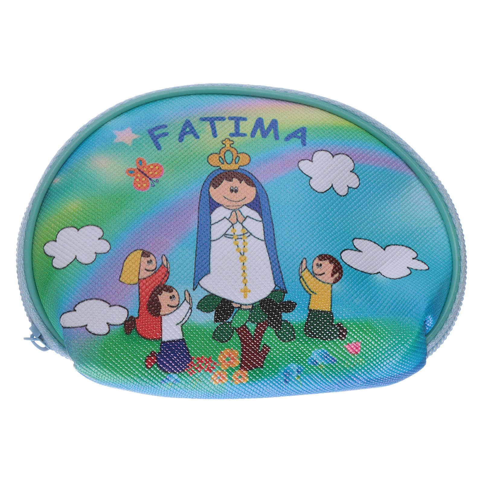 Portarosario borsellino 10x8 cm immagine Madonna di Fatima 4