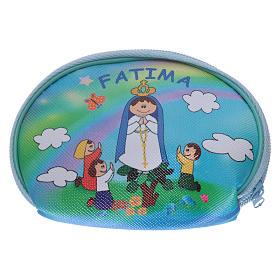 Portarosario borsellino 10x8 cm immagine Madonna di Fatima s2