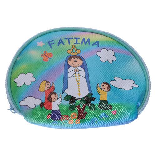 Portarosario borsellino 10x8 cm immagine Madonna di Fatima 1