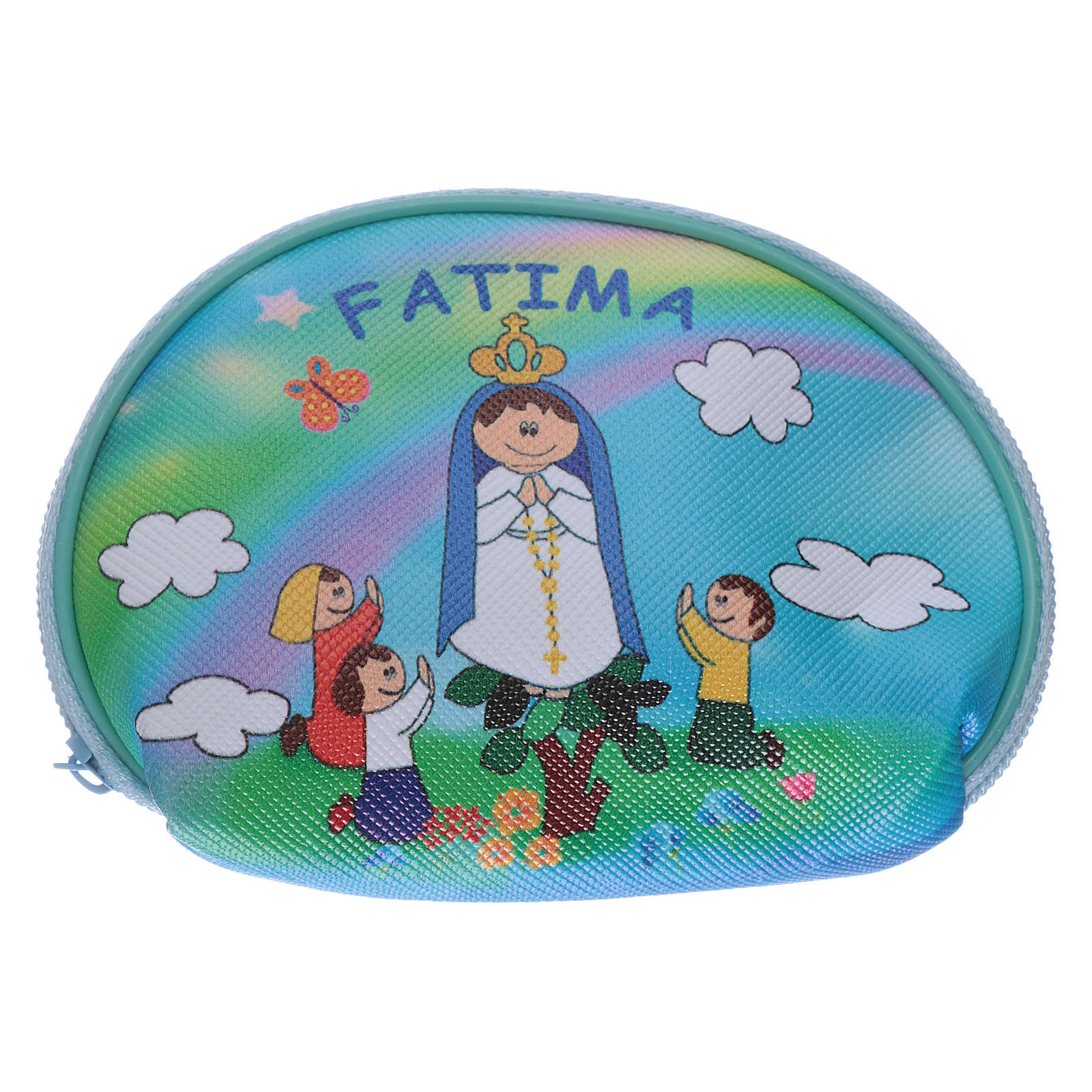 Purse rosary holder 10x8 cm with Our Lady of Fatima image 4
