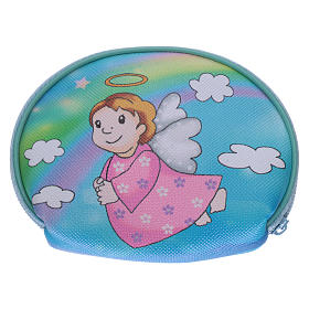 Purse rosary holder 10x8 cm with Angel dressed in pink image s2