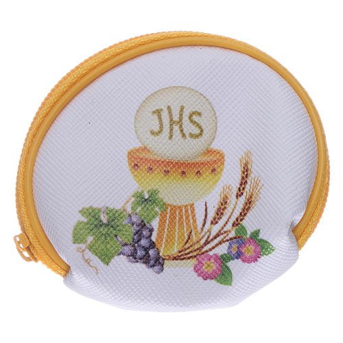 Purse rosary holder 7x6 cm with Chalice image 1