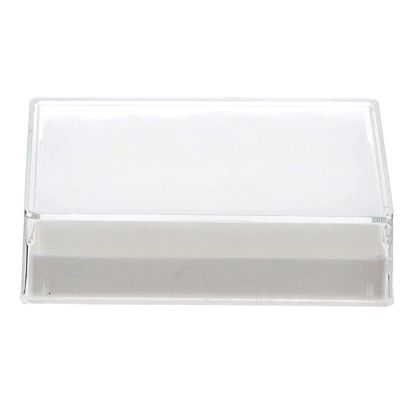 Caja para rosario rectangular con guata para granos 6-7 mm 4