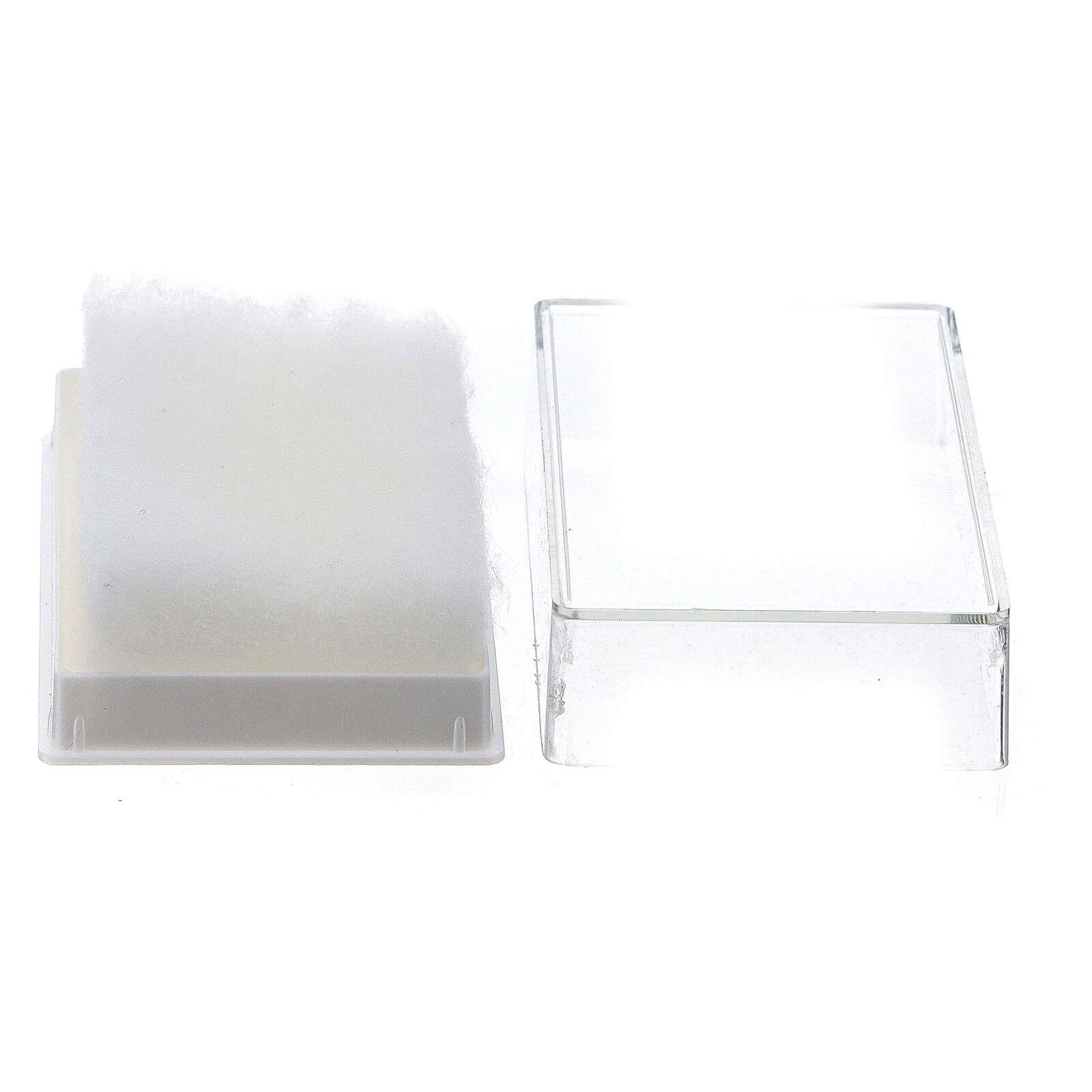 Portarosario rettangolare con ovatta per grani 6-7 mm 4