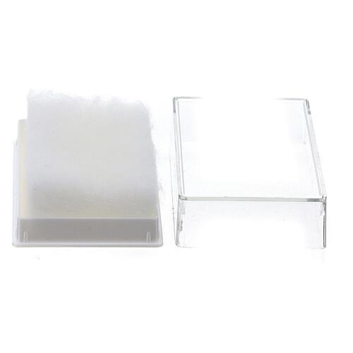 Portarosario rettangolare con ovatta per grani 6-7 mm 2