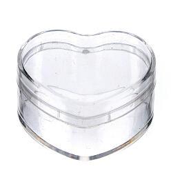 Caja para rosario corazón plástico s1