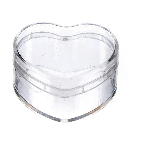 Caja para rosario corazón plástico 1