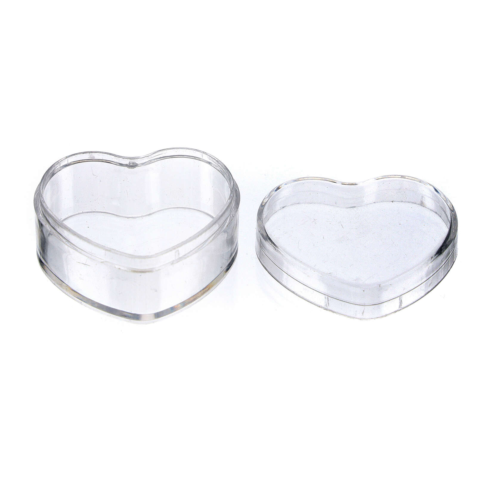 Boîte à chapelet coeur plastique 4