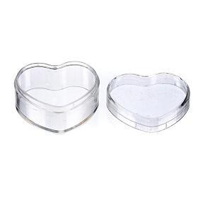 Boîte à chapelet coeur plastique s2