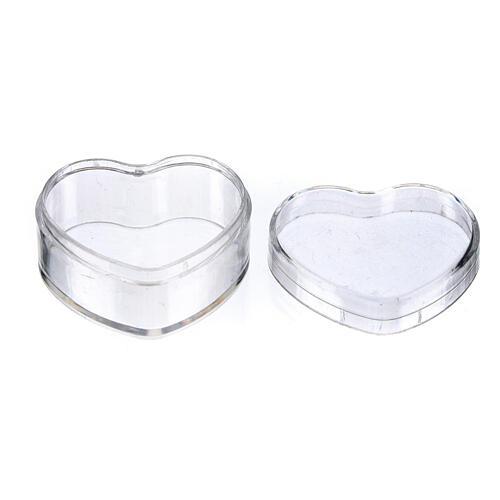 Boîte à chapelet coeur plastique 2