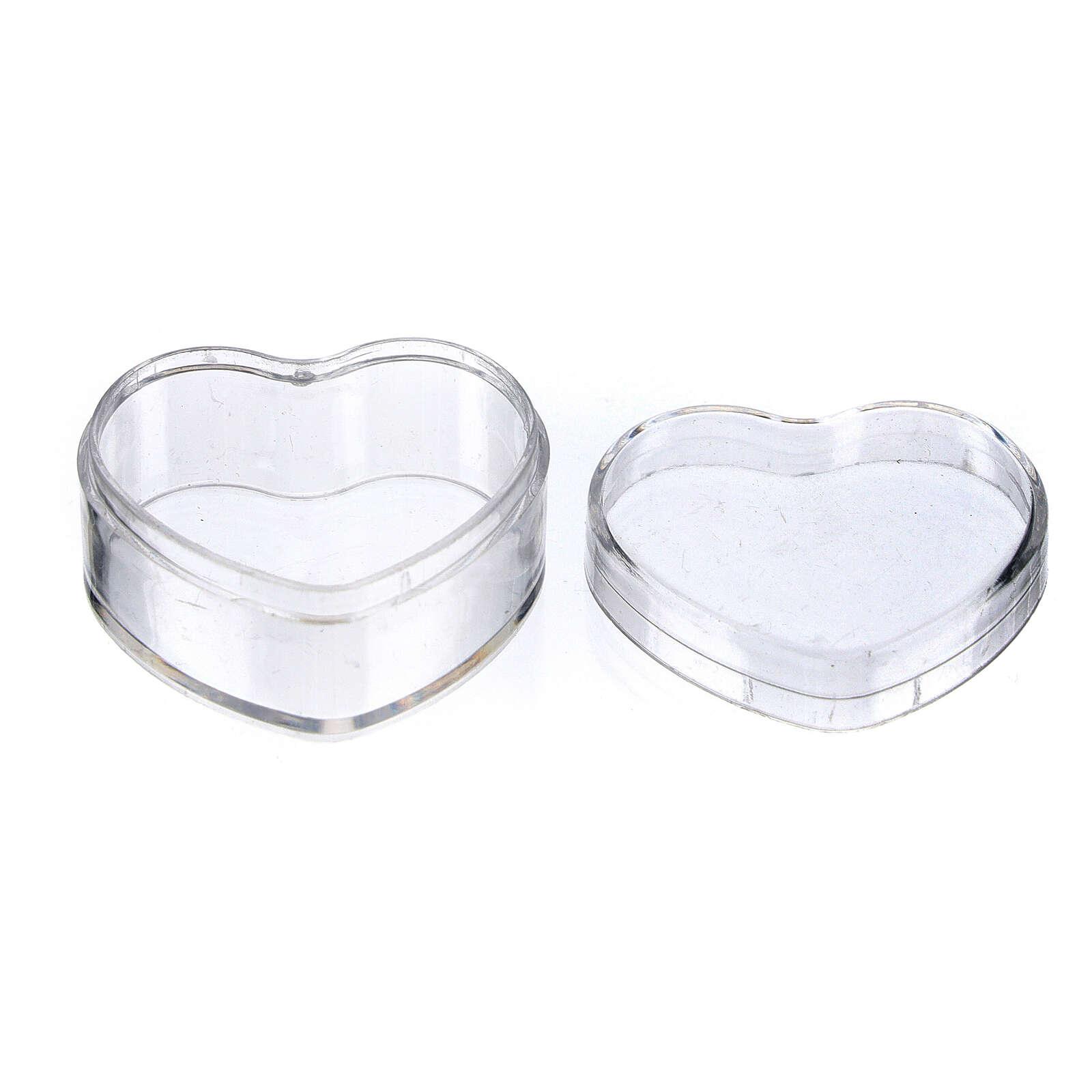 Portarosario cuore plastica 4