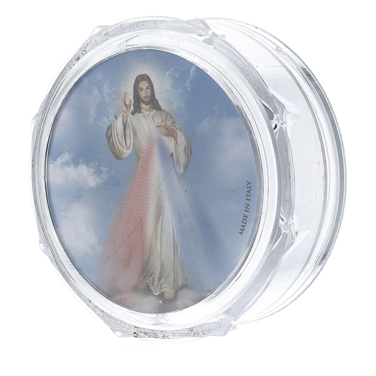 Scatolina portarosario ottagonale Gesù Misericordioso 4