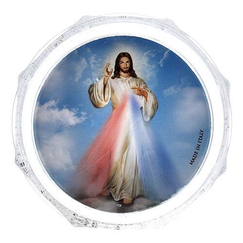 Scatolina portarosario ottagonale Gesù Misericordioso 1