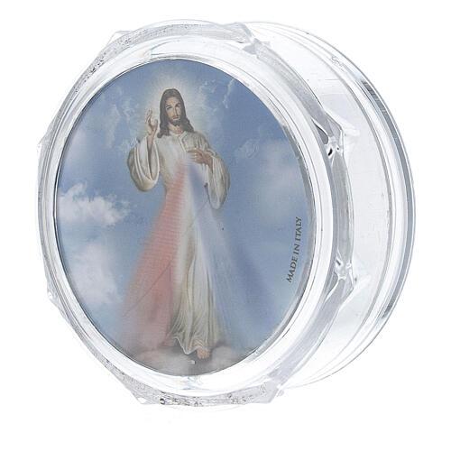 Scatolina portarosario ottagonale Gesù Misericordioso 2