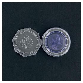 Caja para rosario vidrio azul Lourdes s4