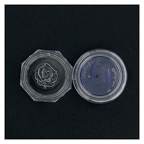 Caja para rosario Medjugorje vidrio azul s4