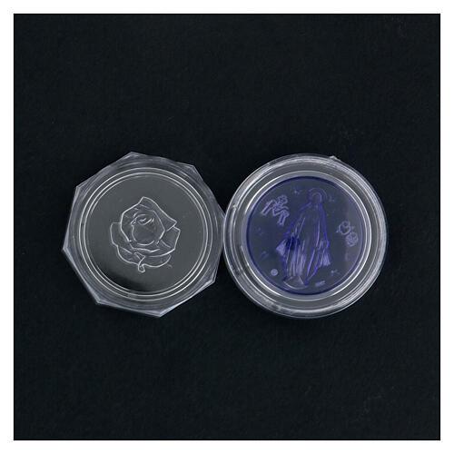 Caja para rosario Milagrosa vidrio azul 4