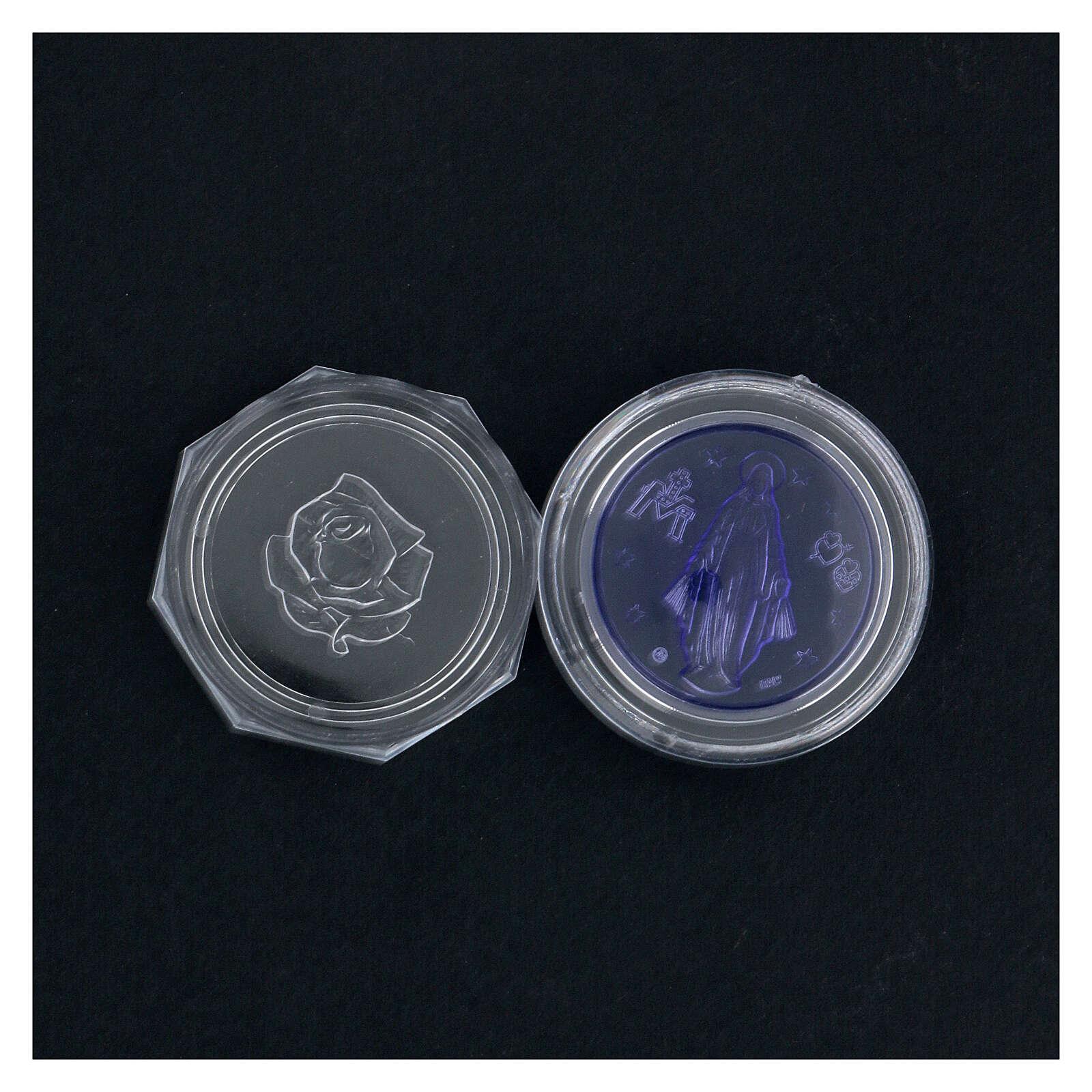 Portarosario Miracolosa vetrino blu 4