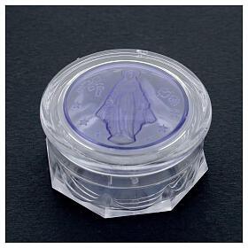 Portarosario Miracolosa vetrino blu s2