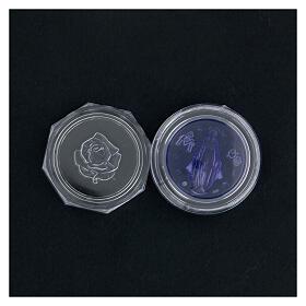 Portarosario Miracolosa vetrino blu s4