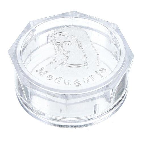 Caja para rosario Virgen Medjugorje octagonal 1