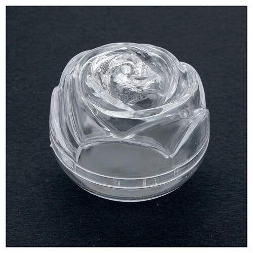 Rose-shaped rosary box 5.5 2