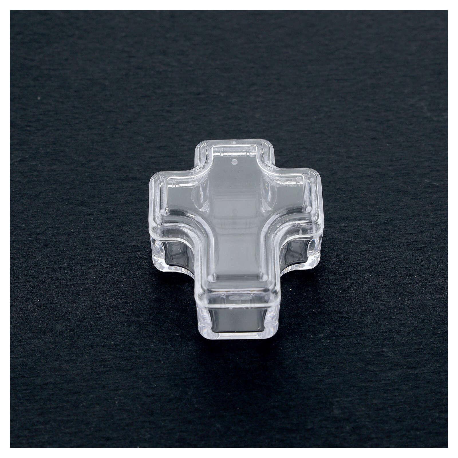 Portarosario croce grani 3-4 mm 4