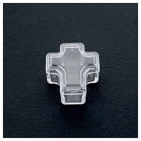 Portarosario croce grani 3-4 mm s2