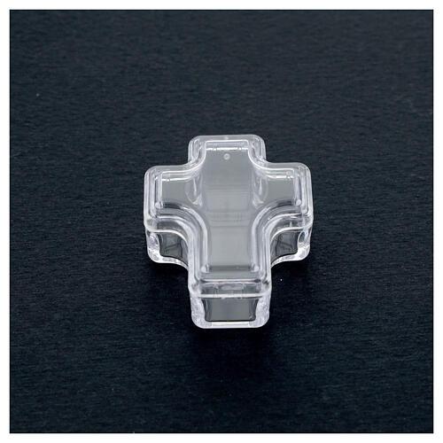 Portarosario croce grani 3-4 mm 2