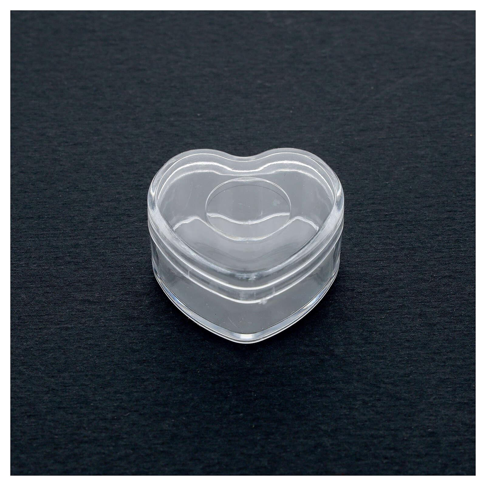 Rosary holder heart box 3-4 mm beads 4