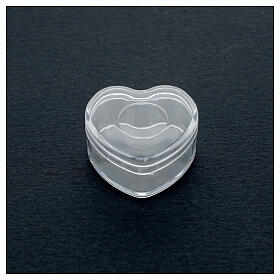 Rosary holder heart box 3-4 mm beads s2