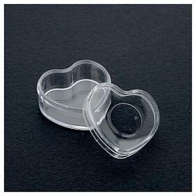 Rosary holder heart box 3-4 mm beads s3