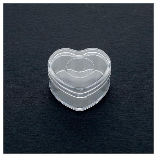 Rosary holder heart box 3-4 mm beads 2