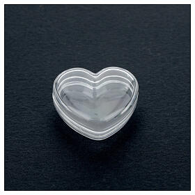 Rosary holder heart box 3-4 mm beads s2