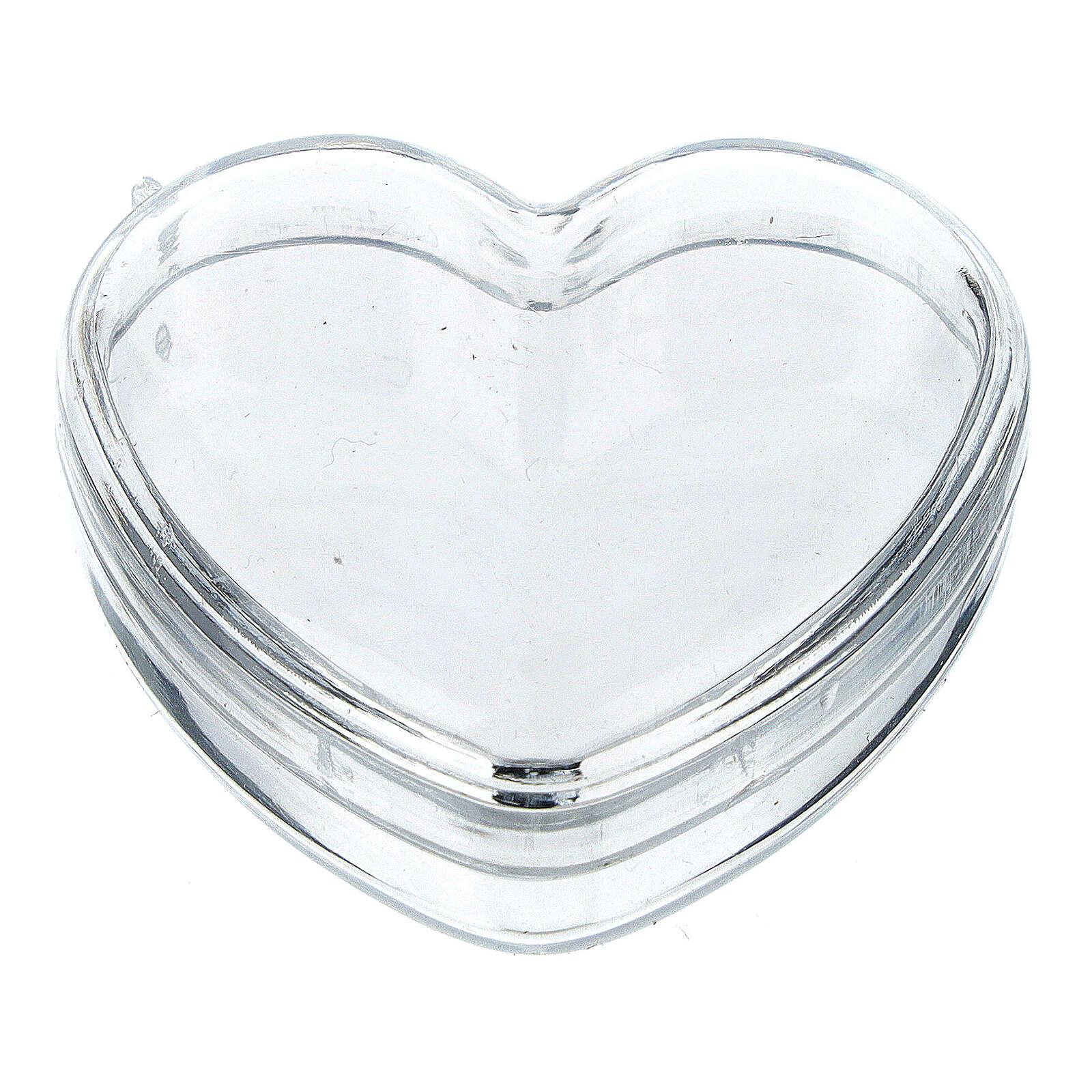Boîte coeur pour chapelet grains 3-4 mm 4