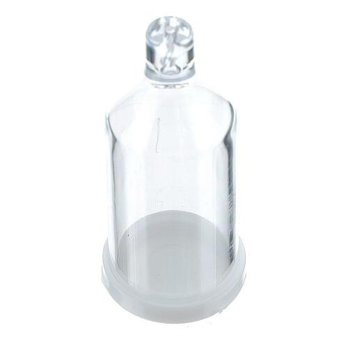 Botella con moño caja para rosario granos 3 mm 1