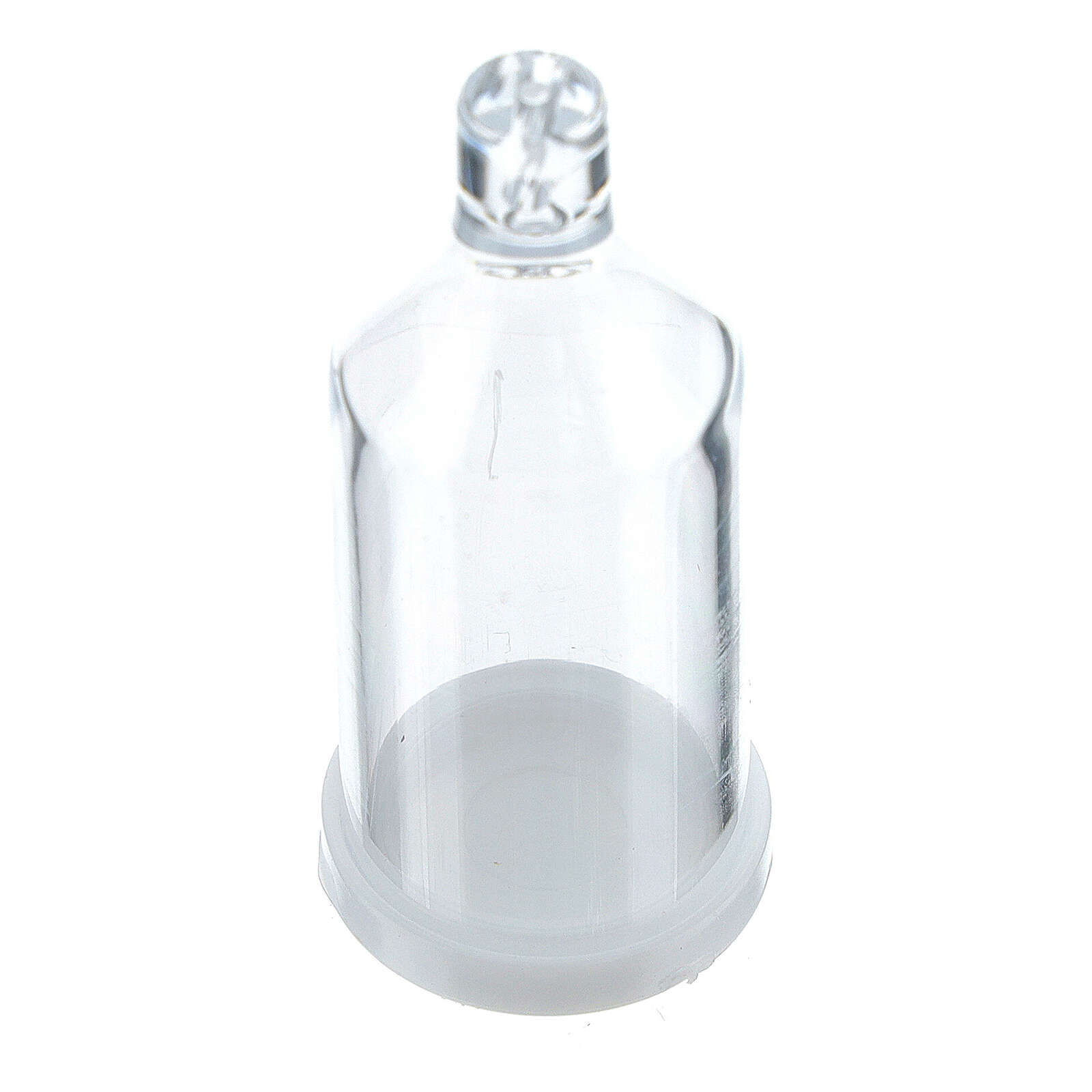 Bottiglietta con fiocco portarosario grani 3 mm 4