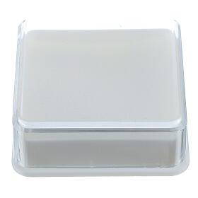 Étui à chapelet boîte carrée 5x5 cm s1