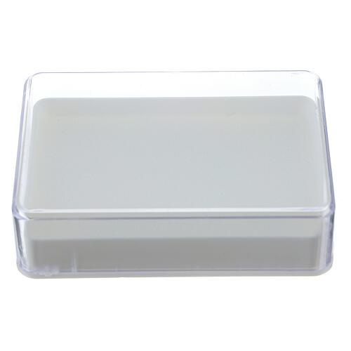 Caja para rosario con esponja rectangular 1