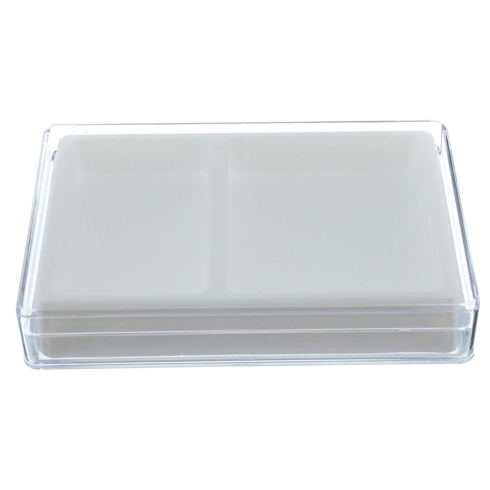 Caja para rosario interior flocado rectangular 4
