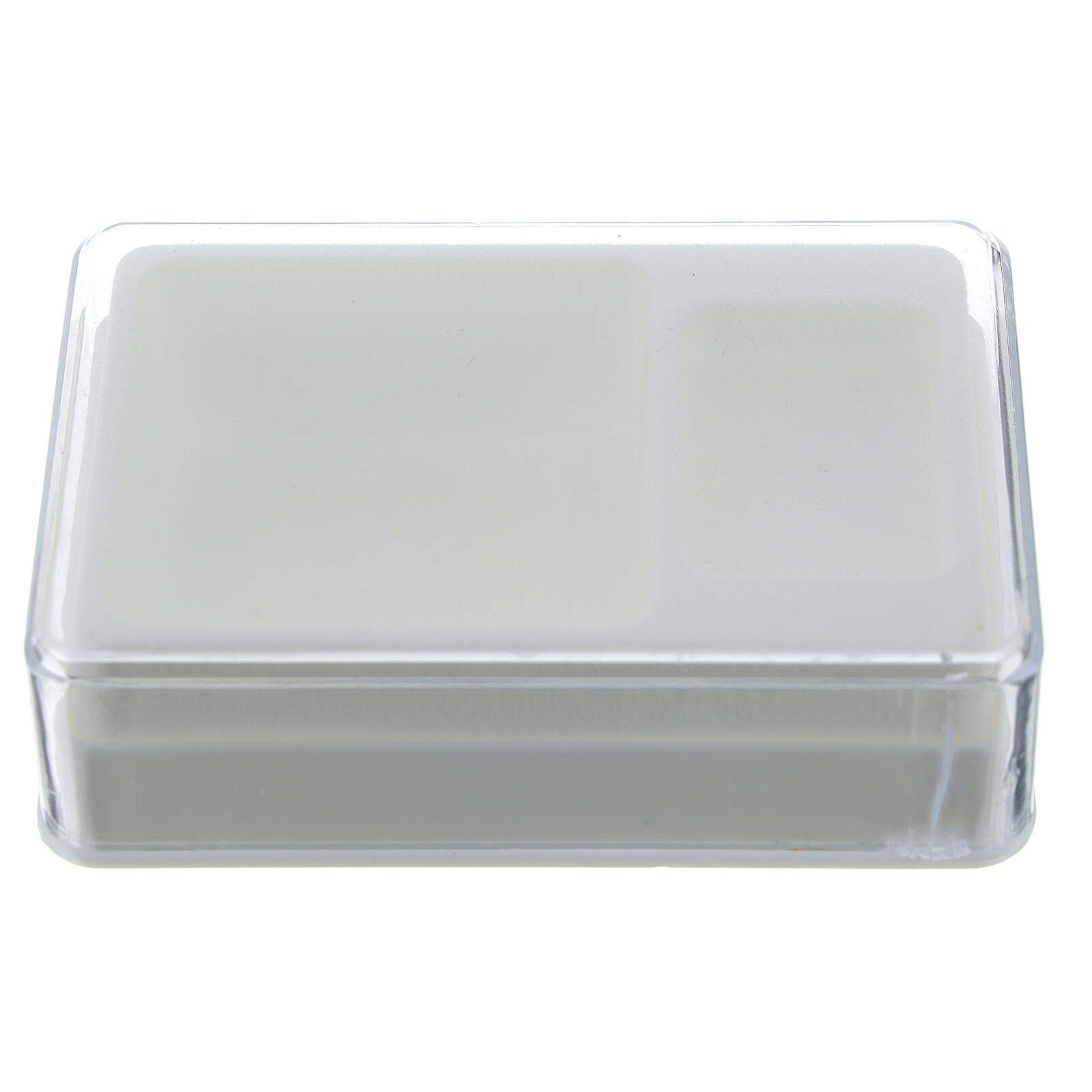 Caja para rosario y medalla rectangular plástico 4