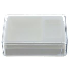 Caja para rosario y medalla rectangular plástico s1