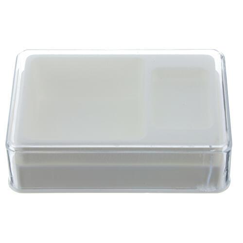 Caja para rosario y medalla rectangular plástico 1