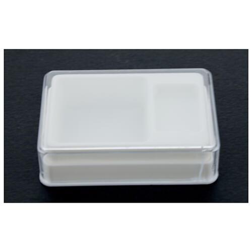 Caja para rosario y medalla rectangular plástico 2